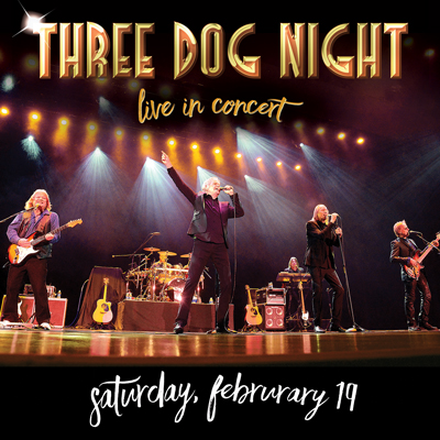 Three Dog Night live in concert on February 19, 2022 at the McDonald Theatre in Eugene, Oregon