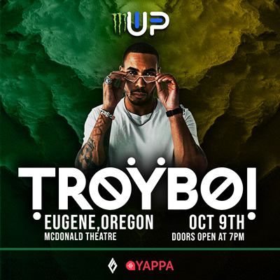 TroyBoi live in concert in the McDonald Theatre, in Eugene, Oregon on October 9, 2021