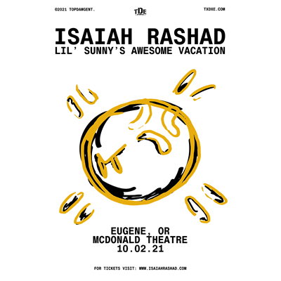 Isaiah Rashad live at the McDonald Theatre on October 2, 2021 in Eugene, Oregon