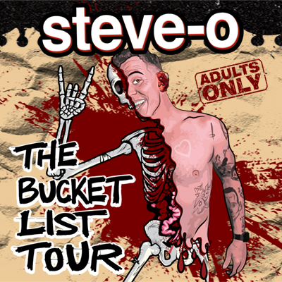 Steve-O live at the McDonald Theatre in Eugene, Oregon on January 9, 2022 for a 21 plus ages comedy concert.