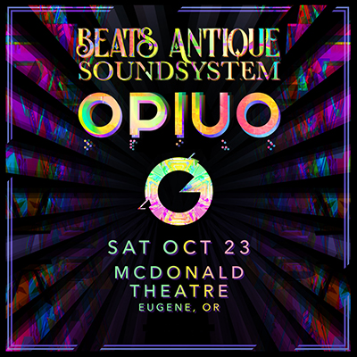 Beats Antique Soundsystem live in concert on Oct. 23, 2021 in the McDonald Theatre, Eugene, Oregon